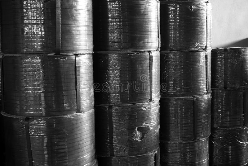 皮带箱子卷  免版税库存照片