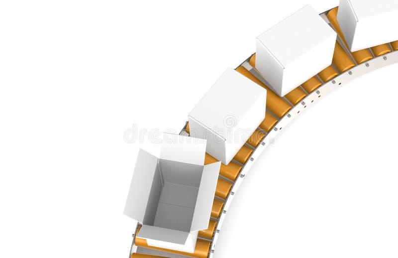 皮带输送机顶视图 向量例证