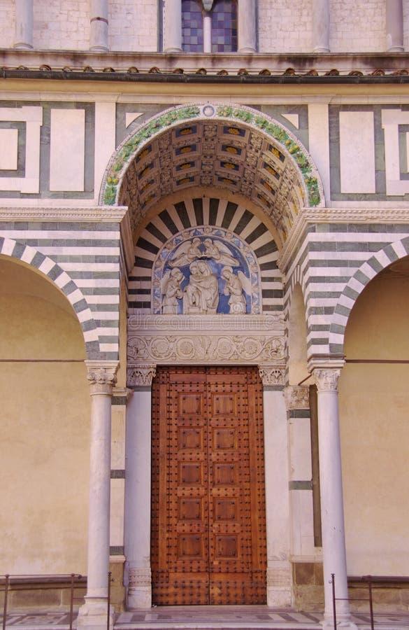 皮斯托亚在托斯卡纳在意大利 免版税库存照片