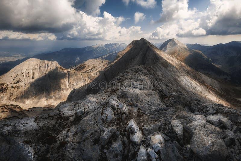 皮林山脉山,vihren峰顶,保加利亚,欧洲 图库摄影