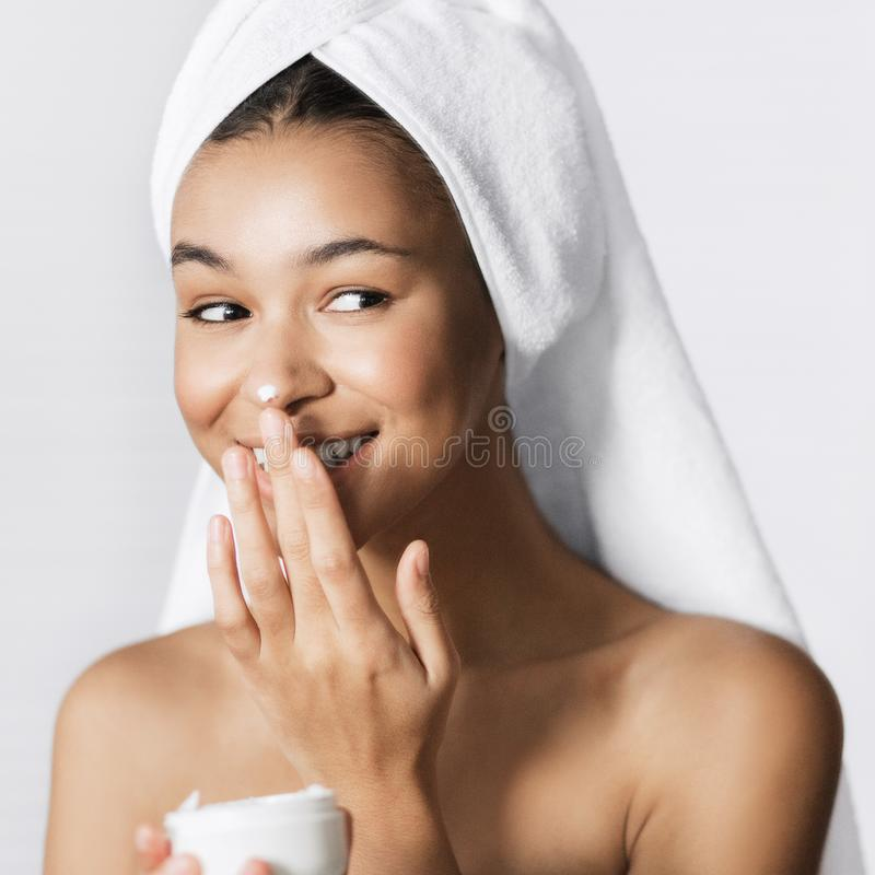 皮肤发光奶油概念 库存照片