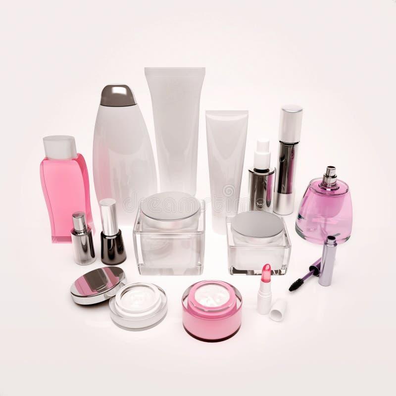 皮肤,头发,装饰化妆用品关心产品  库存图片