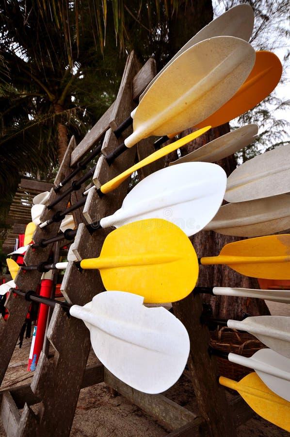 皮船桨 图库摄影