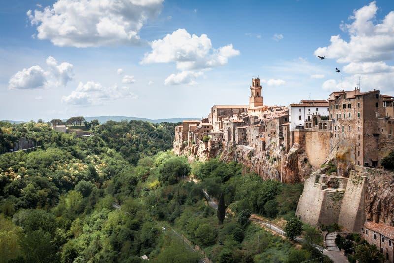皮蒂利亚诺全景在一个晴天 免版税库存图片