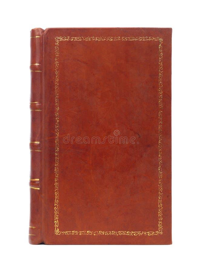 皮革一定的葡萄酒书套 免版税库存照片
