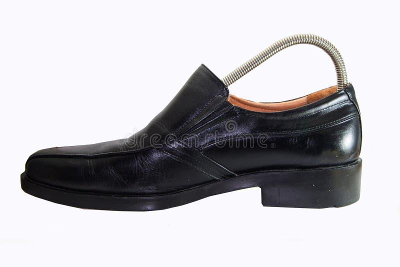 皮革人` s鞋子 免版税库存图片