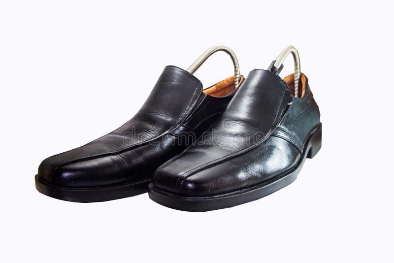 皮革人` s鞋子 免版税图库摄影