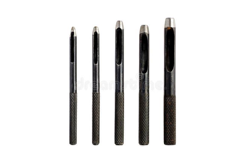 皮革制作的工具-穿孔被隔绝的皮革打孔器 免版税图库摄影