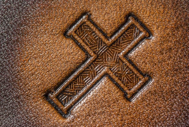 皮革十字架 库存图片