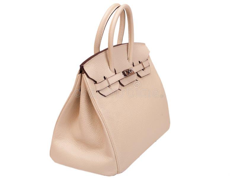 皮革女性提包。 免版税库存图片