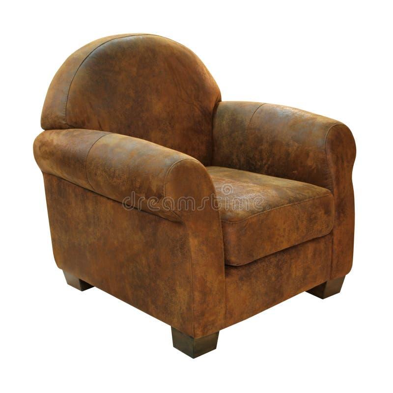 皮革扶手椅子 库存照片