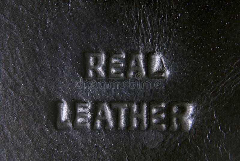 皮革标签 库存图片