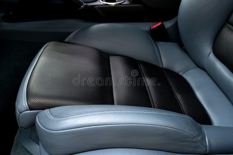 皮革汽车座位 免版税库存图片