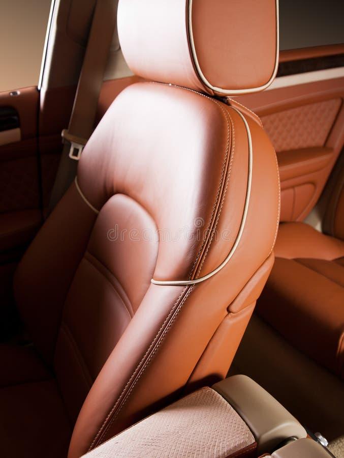 皮革汽车座位 免版税图库摄影
