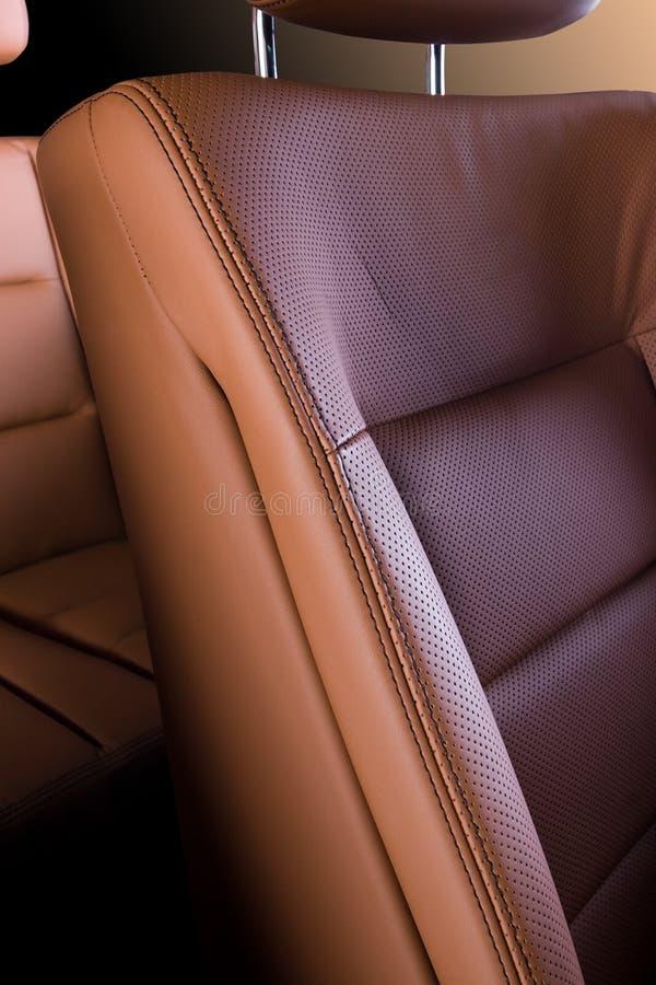 皮革汽车座位 免版税库存照片