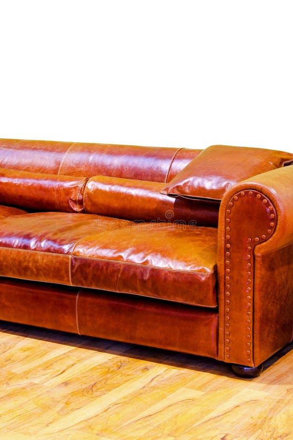 皮革沙发 库存图片