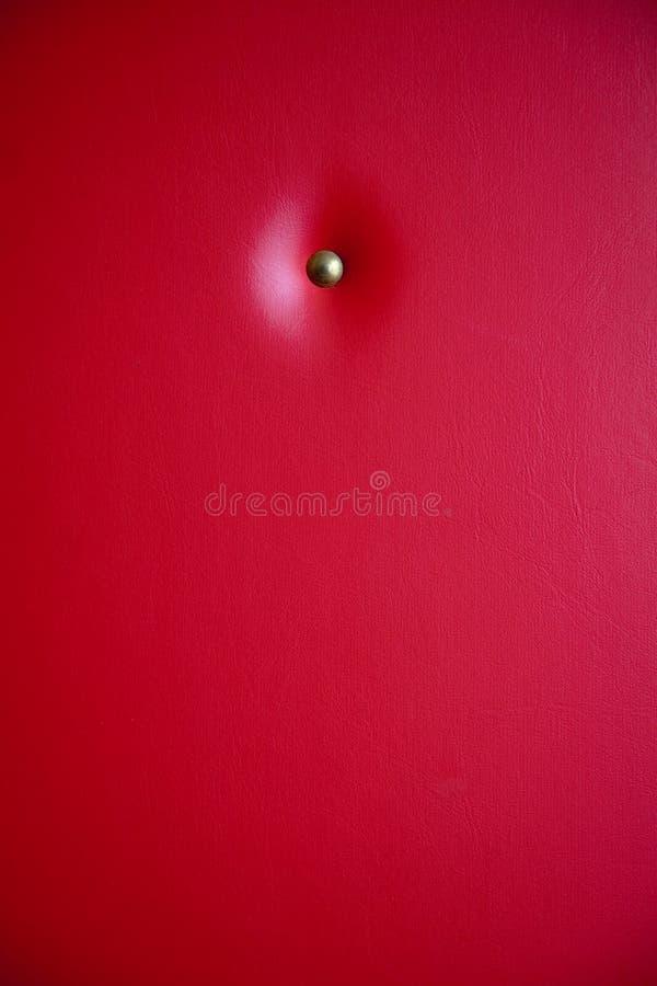 皮革红色室内装潢 免版税库存照片