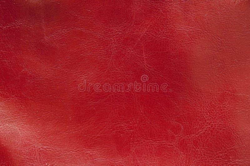 皮革红色纹理 免版税库存图片