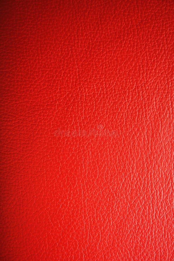皮革红色纹理 免版税库存照片