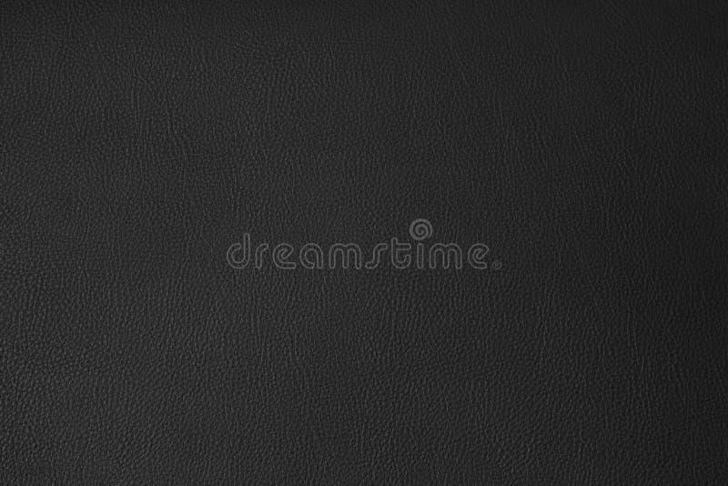 黑皮革纹理背景 免版税库存照片