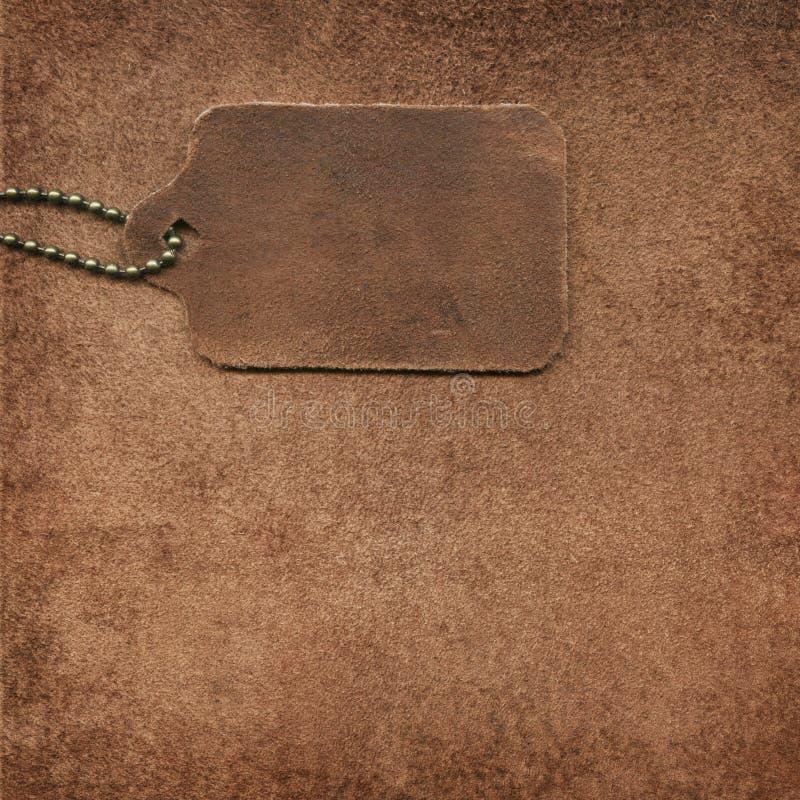 皮革绒面革标签 库存图片