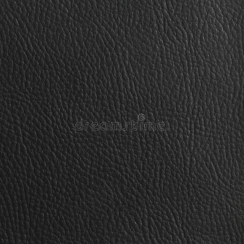 黑皮革背景 库存图片