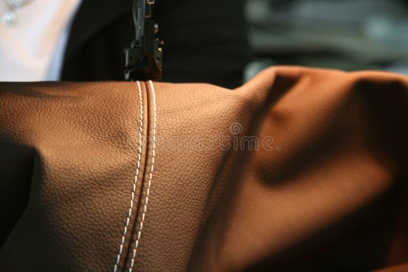 皮革设备部分缝合 免版税库存照片