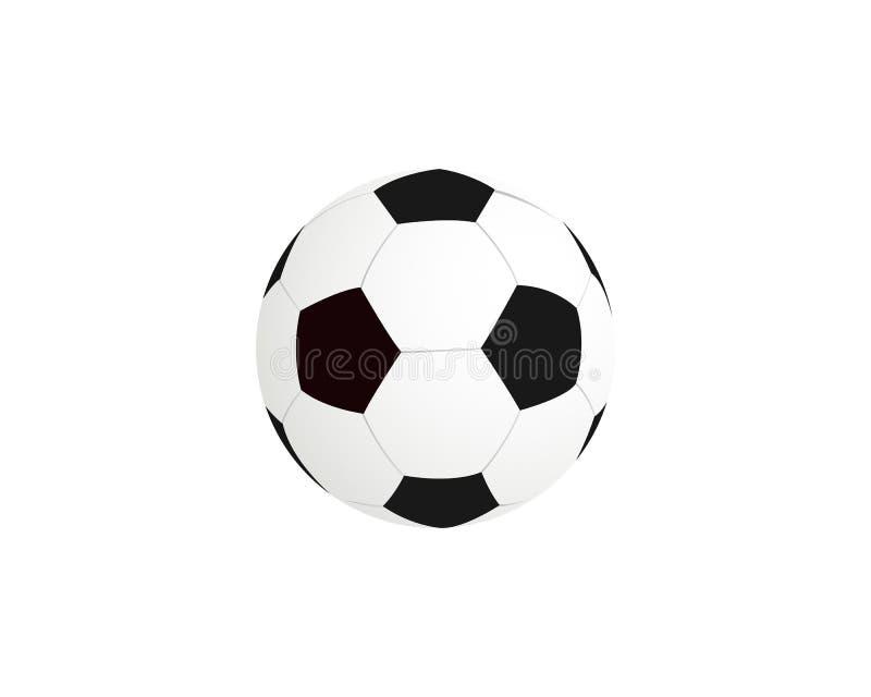 皮革足球 向量在空白背景查出的足球 向量例证