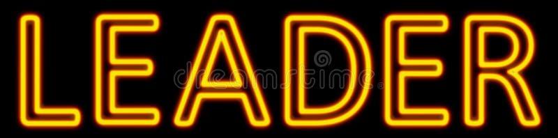 皮革霓虹灯广告 向量例证
