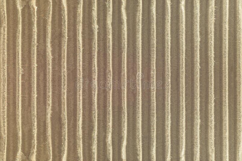 皱纸板纹理背景 由天然材料做的工艺纸细节 库存照片