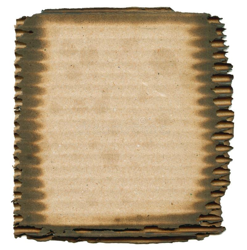 皱纸板被烧焦的框架  免版税库存图片