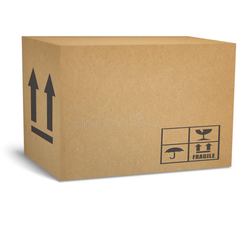 皱纸板配件箱 免版税图库摄影