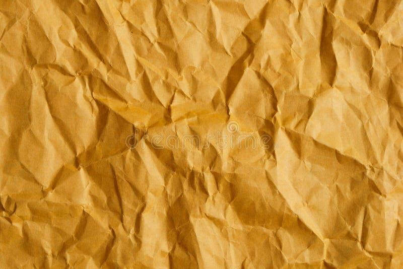 皱纹棕色纸面背景 免版税库存图片