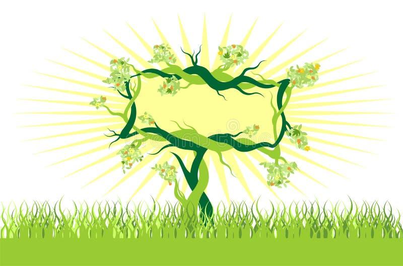 盆景复制空间结构树 库存例证