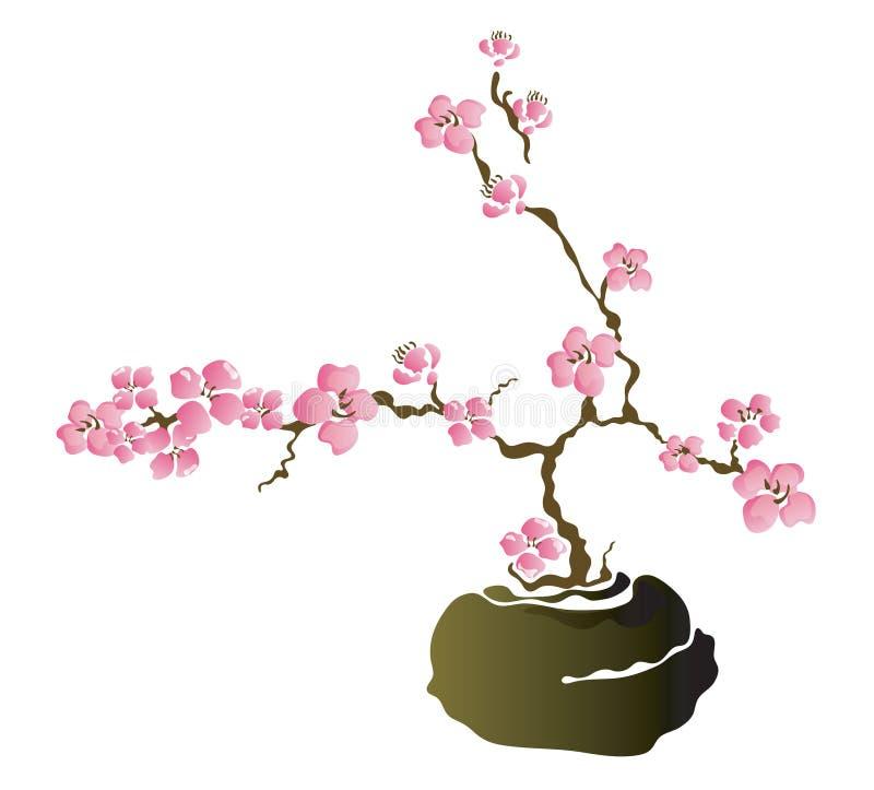 盆景结构树 库存例证