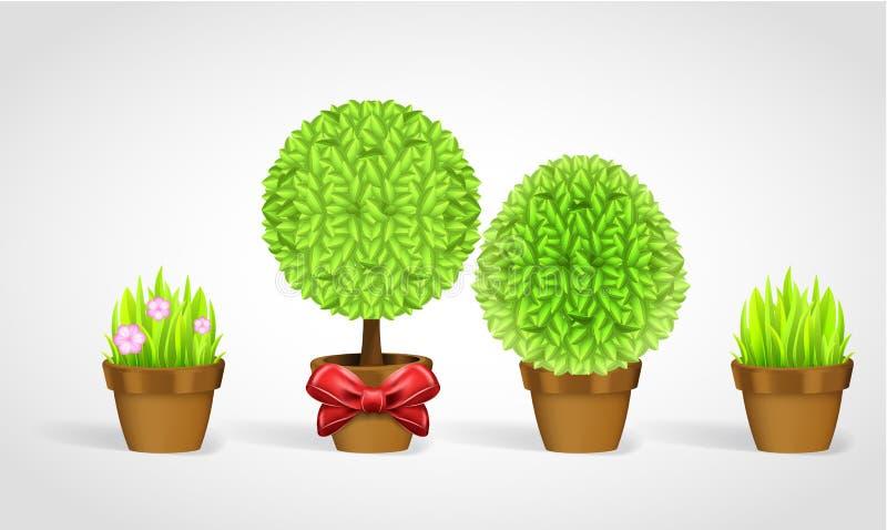 盆栽植物收集 皇族释放例证