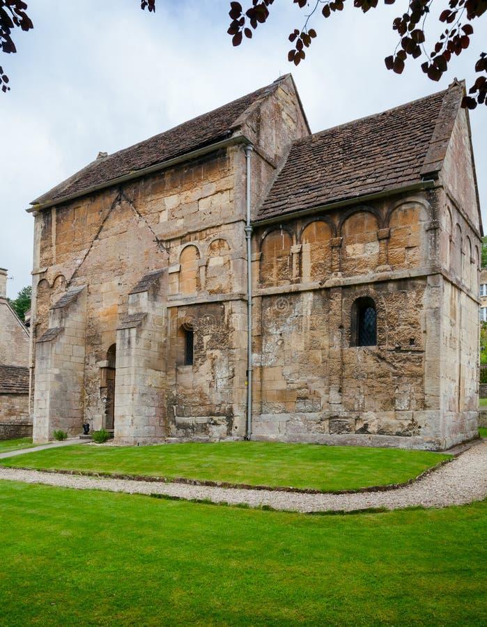 盎格鲁撒克逊St Laurences教会在雅芳河畔布拉福如此威尔特郡 库存照片