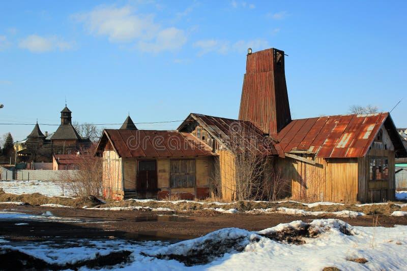 盐厂在德罗霍贝奇,乌克兰,是最旧一个在欧洲 库存照片