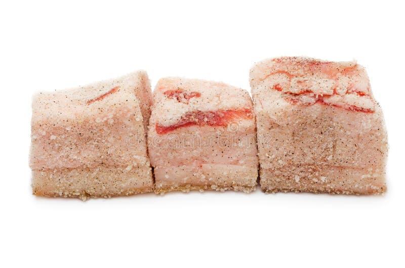 盐味的猪油 库存照片