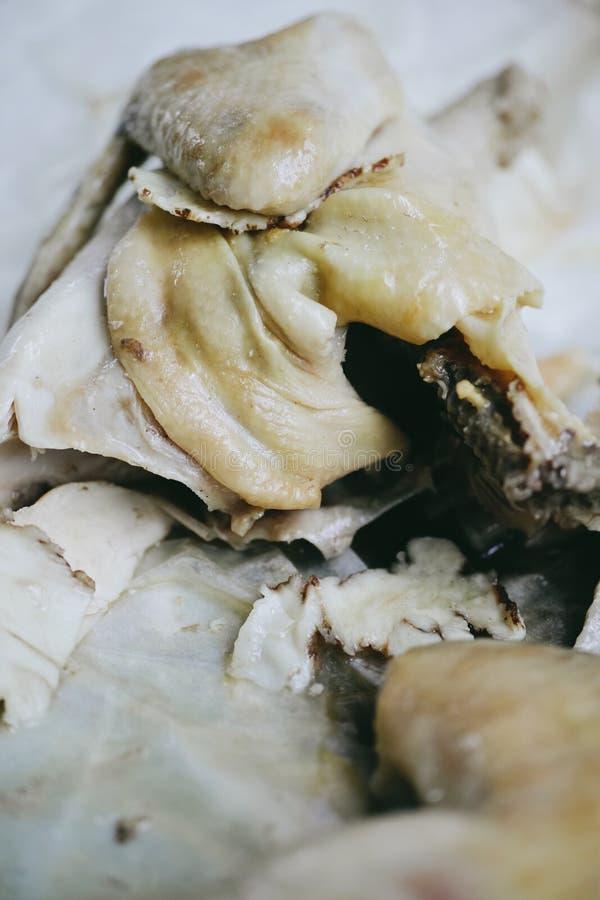盐味的鸡在怡保,马来西亚 库存照片