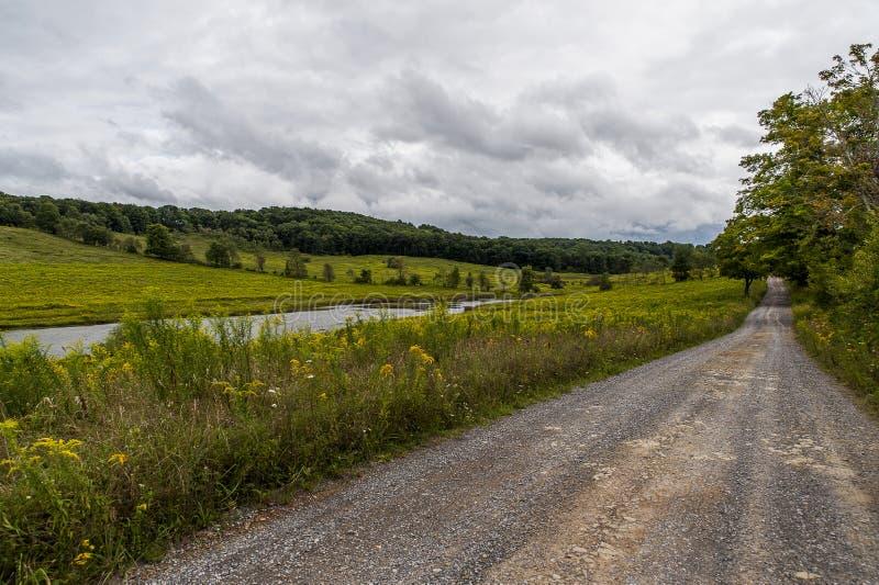 盐块Creek湖- Cranesville,西维吉尼亚 库存图片