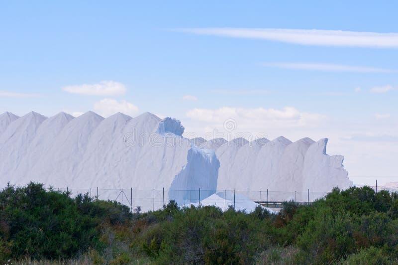 盐山在西班牙 库存照片