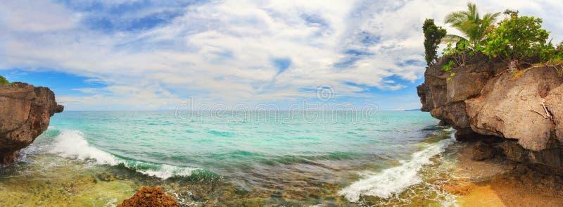 盐水湖全景。 免版税图库摄影