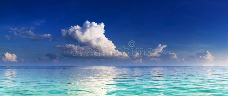 盐水湖全景绿松石 库存照片