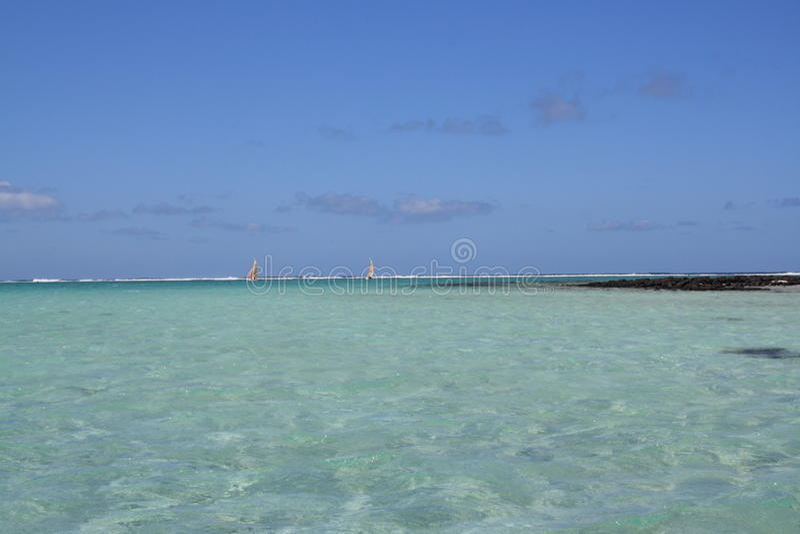 盐水湖在绿松石水中 图库摄影