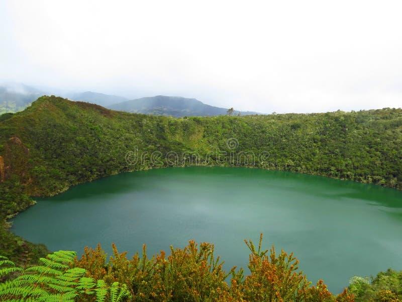 盐水湖或湖el dorado传奇guatavita 库存照片
