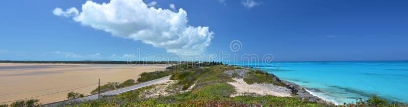 盐池塘。Exuma,巴哈马 库存照片