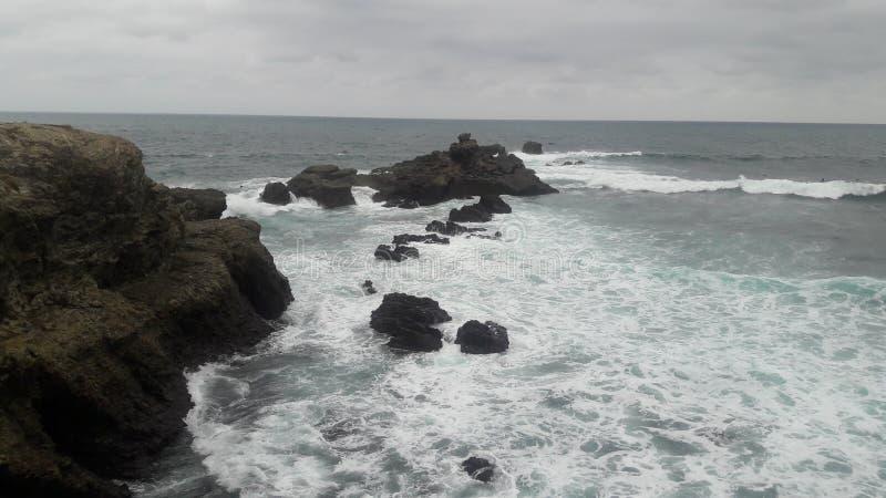 盐沼厄瓜多尔 免版税图库摄影