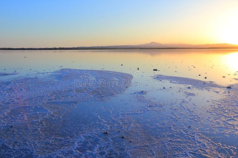 盐湖在塞浦路斯 图库摄影