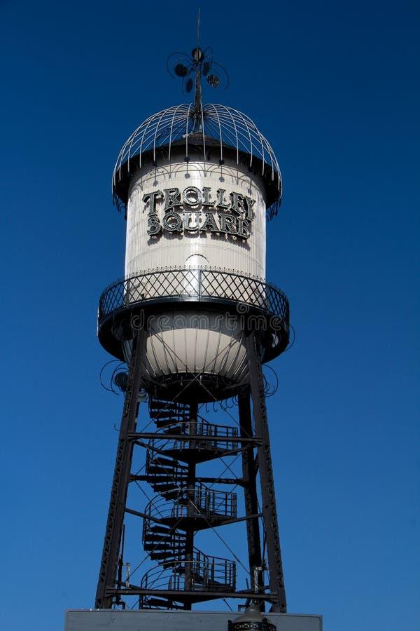 盐湖城:台车方形的购物中心 免版税图库摄影
